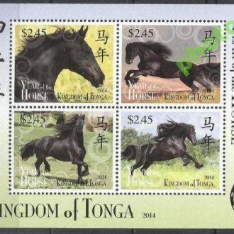 Тонга 2014 фауна кони бл.**