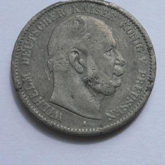 Германия Пруссия 2 марки 1876 г