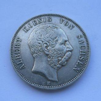 Германия 5 марок 1902 г Саксония