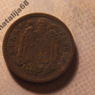 Испания монета 1 песета 1947 год 1952 !