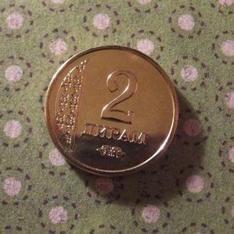 Таджикистан 2011 год монета 2 дирам !