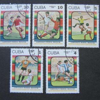 5 марок Куба 1986 футбол
