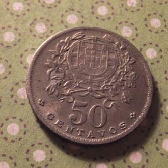 Португалия 1965 год монета 50 сентаво
