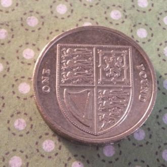 Великобритания монета 1 фунт 2014 год