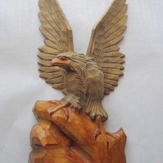 Орёл большой скульптура дерево СССР Винтаж!!!