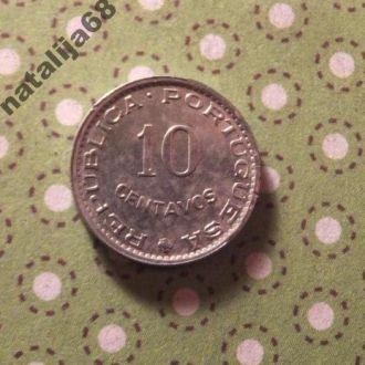 Гвинея 1973 год монета 10 сентаво !