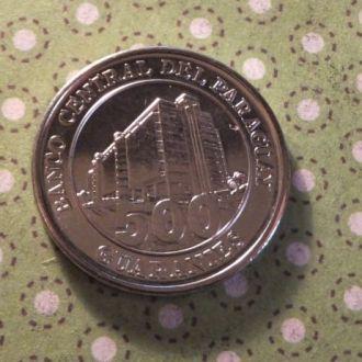 Парагвай 2007 год монета 500 гуарани !