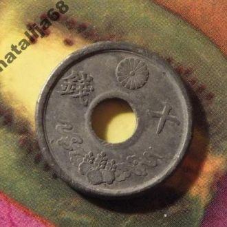 Япония монета 10 сен
