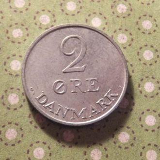 Дания 1971 год монета 2 эре !