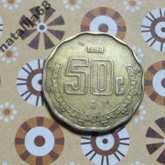 Мексика 1998 год монета 50 сентаво
