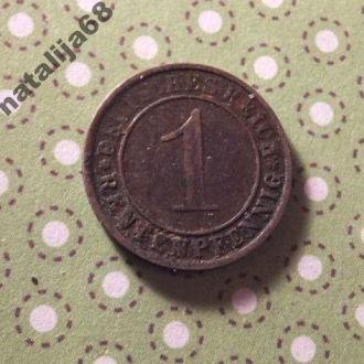 Германия 1923 год монета 1 пфенинг E