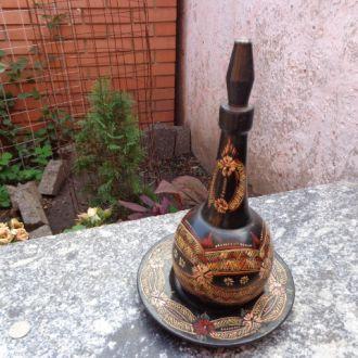 Деревянный графин с блюдом СССР