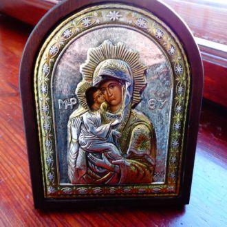 Икона Божьей Матери серебро 925пр. позолота