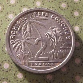 Коморы Коморские острова 1964 г монета 2 франка