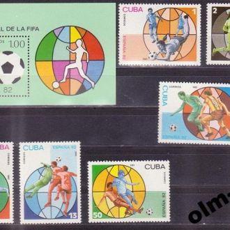 Cuba / Куба - Футбол 6 марок + блок 1981 OLM-OPeN