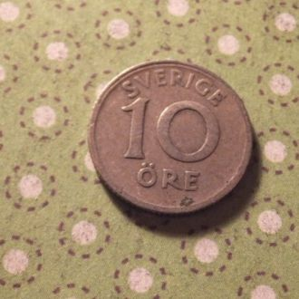 Швеция 1941 год монета 10 эре