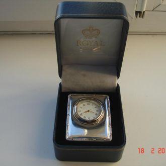 Настольные серебрянные часы 925
