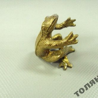 лягушка миниатюра бронза