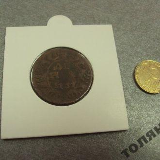 россия деньга 1737 сохран