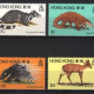 Гонг Конг Китай Английские колонии Фауна 1982 MNH
