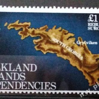 Фолклендские острова 1982 карта MNH