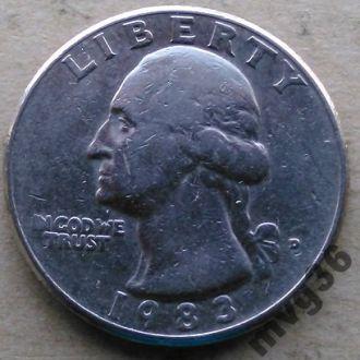 США,25 центов квотер,1983 год.