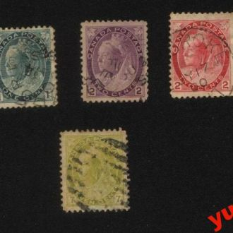 Canada 1898г № 62,63,64,65,66,67,69 гаш