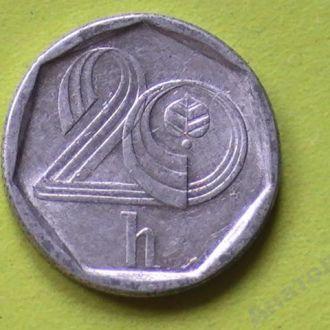 20 Геллеров 1995 г Чехия 20 Гелерів 1995 р Чехія