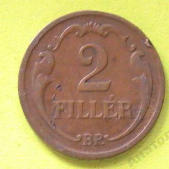 2 Филлера 1935 г ВР Венгрия Угорщина