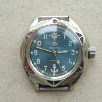 Часы Восток Якорь 17 кам Рабочие Водонепроницаемые
