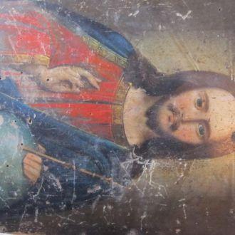Икона. Иисус. 19 век. 23,5x18,5х1.6 см.