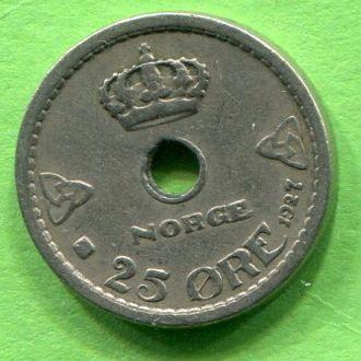 Норвегия 25 эре 1927 г