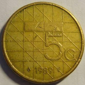 5 гульден 1989 Нидерланды