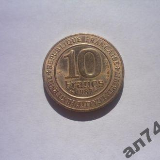 Франция 10франков1987г