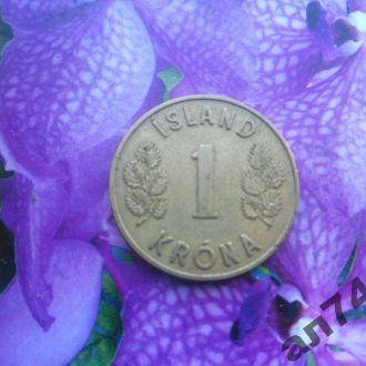 Исландия 1крона 1946г