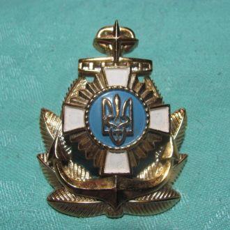 Кокарда ВМФ Украина пластмасса бу № 2