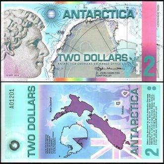 Antarctica / Антарктика - 2 Dollar 2014 - UNC OLM