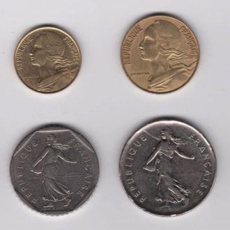 5,10,20 сантимов, 1/2, 1, 2, 5,10 франков =ФРАНЦИЯ