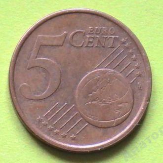 5 Евроцентов 2002 г Италия 5 Центов Центів Італія