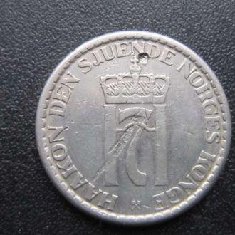 1 крона Норвегия 1957