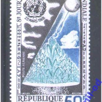 Космос  Сенегал 1968 г  MNH = гидрометеорология