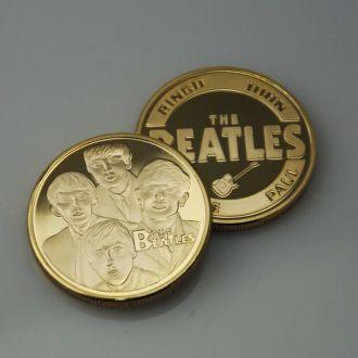 Памятная монета группа Битлз