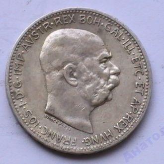 1 Крона 1912 г  Австрия Серебро 1 Корона 1912 р