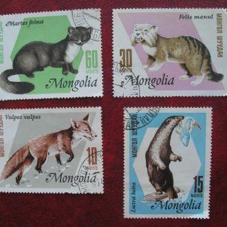 Марки Монгол Шуудан 4 шт Животный мир