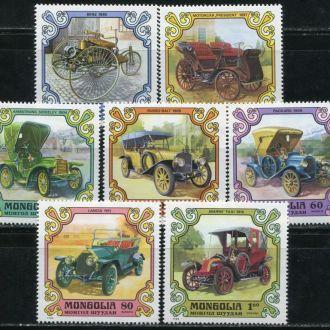 Монголия 1980 Транспорт Автомобили ретро Серия MNH