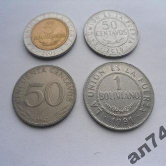 Боливия(подборка) 4шт