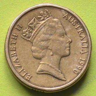 монета Австралия 2 Доллара 1990 г