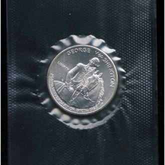 1/2 доллара Вашингтон - серебро - запайка - серт.
