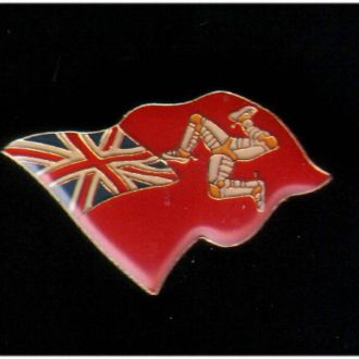 GB о-в  Мэн - флаг - тяжелый - сохран