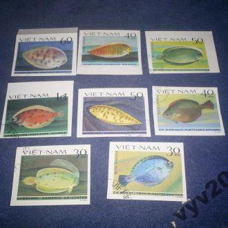 Вьетнам-1982 г.-Рыбы (полная) б/з